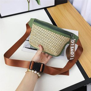 Fashion Lady Classic Woven Casual Wild Waist Bag Messenger Bag Chest Travel Waist Fanny Pack Holiday Money Belt