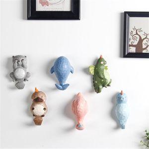 Door Cartoon Cute Household Hanger Adornment Animals Children For Hook Best Wall Hook Hooks Hat Clothing Coat Gifts Resin Kids Hqmtv