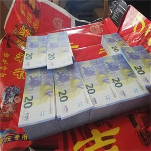 The latest version Feel realistic in hands 20 Euro Bill Counterfeit Money 1:1Design Prank Toys Prop Notes Fake Paper Prop Money 01