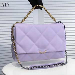 Klassische Handtasche Luxurys Designer Taschen Kanal Frauen Taschen Mode Handtaschen919 Kette Umhängetasche Hohe Qualität Lammfell Kreuzkörper -purple