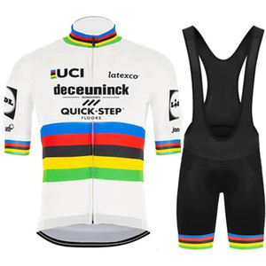 2020 QUICK STEP TEAM WORLD CHAMPION قصيرة الأكمام الدراجات جيرسي SUMMER CYCLING WEAR ROPA CICLISMO + BIB SHORTS 3D GEL PAD SET SIZE: XS-4XL