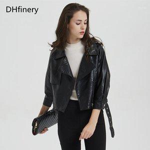 DHFinery Lederjacke Frauen 2020 Frühling und Herbst Kurzabschnitt Slim Motorradjacke P-18921