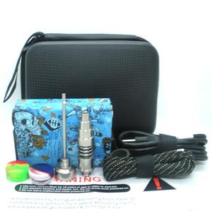 Newest Portable E dab nail kit electric dab nail rig E D electronic dabber box PID TC control Titanium Quartz Nail E Cigarettes wax dry herb