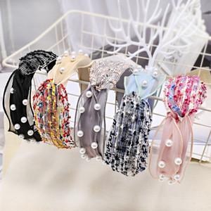Headband Korean Adult Women Pearl Hair Band For Girl Casual Retro Hair Accessories Cute Lady Headwear