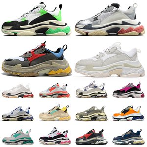 balenciaga schuhe männer triple s balenciaca shoes 2021 Platform Designer Paris 17FW Triple S Flache Casual Dad Schuhe Herren Damen Schwarz Luxus Vintage Old Sneakers Turnschuhe