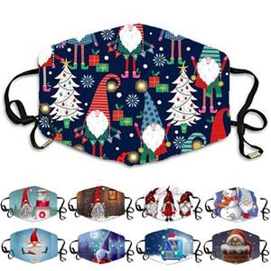 Christmas face mask men women Santa Claus snowman gift masks dustproof haze cotton designer face masks boys girls cartoon printing facemask