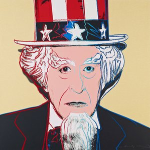 Artworks ANDY WARHOL II UNCLE SAM 1981 Home Decor Handcrafts  HD Print Oil Painting On Canvas Large Wall Art Canvas Pictures 210115