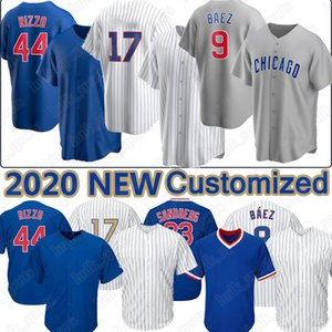 Chicago 9 Javier Baez 44 Anthony Rizzo 17 Kris Custom 2020 Baseball Jersey 23 Ryne Sandberg