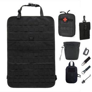 Molle Organizer غطاء مقعد حقيبة متعددة الوظائف مقعد السيارة حقيبة الصيد في الهواء الطلق جيوب التكتيكية الملحقات تخزين الحقيبة 201022
