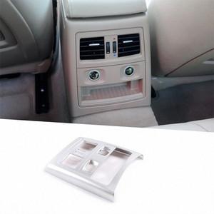 Para E90 Serie 3 2005 2012 ABS del coche del marco del aire acondicionado trasero interior Vent Recorte Accesorios Mi0K #