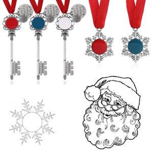 Noel Dekorasyon Sihirli Noel Baba Kar tanesi Anahtarlık kolye Noel ağacı Süsler hediyeler DIY Kolye Takı GWC2583