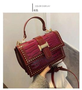Summer body bag women 2020 new luxury design multifunctional messenger bag leisure retro stone pattern portable small square bag