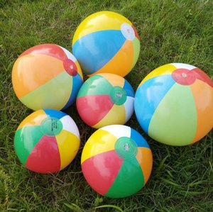 Inflatable Beach Ball Outdoor Beach Ball Water Sports Balloon Water Toys Best Summer Toys For Children Ball Multi -Colour Ysy57