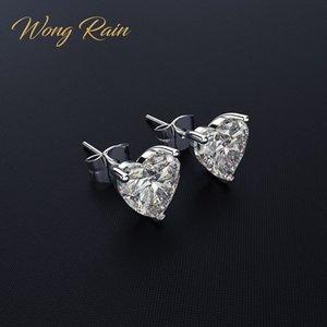 Wong Rain Classic Classic 100% 925 Стерлингового серебра 925 Создано Моисанит Драгоценный камень Годовщина Сердце Сердце Сердце Изящные Ювелирные Изделия Оптом