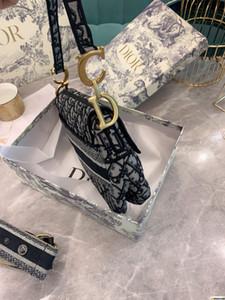 2020 new fashion twill jacquard canvas trend saddle bag Designer shoulder bag tote ins party bayswater handbag best NB328