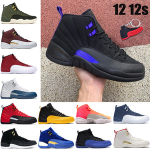 Nuovi 12 12 12s Salto di pallacanestro Scarpe Black Dark Concord Sunrise Reverse Flue Game University Gold CNY Bulls Gym Red Mens Trainer Sneakers