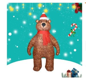 2021 Hot selling Popular Christmas gas model inflatable 2.1 m Christmas Bear air model courtyard decoration props Decoration Christmas