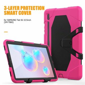 Silicon Case For Samsung Galaxy S6 10.5inch T860 Full Body Protection Defender 3 Layer Detach Kickstand Tablet PC Cover
