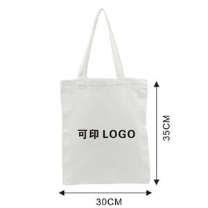 Portable Canvas Bags Custom Logo Cotton Blank Cotton Eco-friendly Shopping Bags Designers Handbags Printing Customized 177 J2