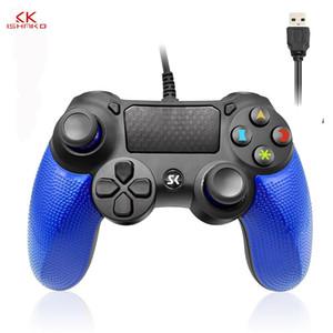 لعبة PS4 السلكية وحدة تحكم USB غمبد متعددة التعامل مع الاهتزاز 1M كابل غمبد لفون الكمبيوتر لPS4 نظام PS3 PS2 wmtrKe dh_niceshop