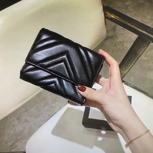474802 marmont قصيرة محفظة كلاسيك المرأة عملة محفظة سستة الحقيبة مبطن جلد ناعم محافظ البطاقة الرئيسية بطاقة الائتمان مخلب