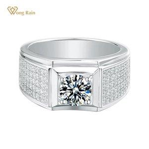 Wong Yağmur% 100 925 Gümüş düzenlendi Moisanit elmas taşlı Düğün Nişan Lüks Yüzük Güzel Takı Toptan
