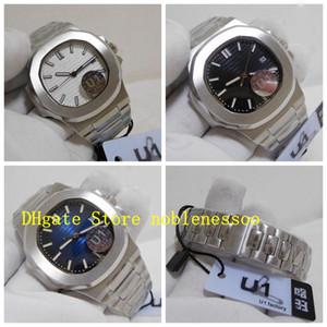 Asia Cal.324 SC Orologio Classico Mens Automatic Watch Orologio automatico 5711 Bianco Black Dial Blue 40mm U1 Fabbrica Bracciale in acciaio Bracciale in acciaio trasparente per uomo