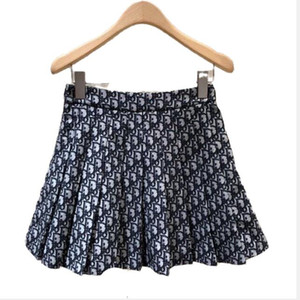 skirt for women 2021 New knit skirt with alphabet pattern, high-waisted pleated skirt, jacquard skirt