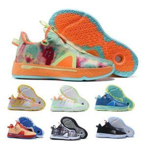 PG Paul George 4 Erkek Basketbol Ayakkabı Sneakers Gatorade Digi Camo Sarı Ekose Gamer Özel Narenciye Oreo GX Ucuz Tenis Eğitmenler Ayakkabı