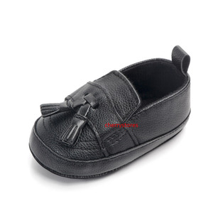 Newborn Baby Boy Shoes Gentleman Fitst Walker PU Leather Moccasin Causal Shoes