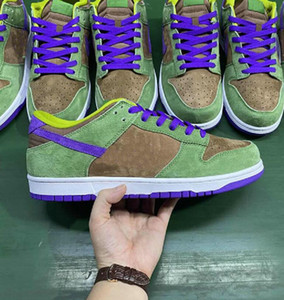 Dunk SB SP Low Veneer Autumn Verde Deep Purple SB Mens Skate Shoes Designer Sports Sneakers US 5-11
