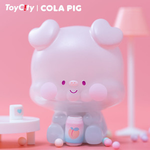 Birthday gift Little Pig Coke TOY CITY Trendy Kid Doll Computer Desktop Decoration Kawaii Toy Blind Random Box Y0112