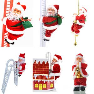 عيد الميلاد قلادة سانتا كلوز تسلق سلم معلق دمية حبل سلم السنة الجديدة الديكور شجرة شجرة عيد الميلاد الشنق ديكور 10PCS T1I2576