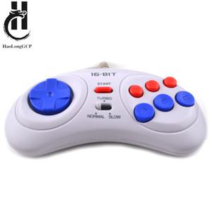 Trasporto libero 1 / 2PCS Controller di gioco cablato per Sega Genesis 6 Button Gamepad per Sega Mega Drive 16 bit Video Game Console Y0114