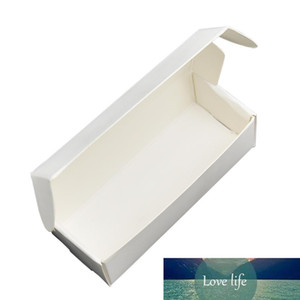 9.4x3.8x2.6cm Foldable White Soft Paperboard Package Box Boutique Lipstic Packing Boxes Makeup Bottle Candy Packaging Kraft Paper Box 50pcs
