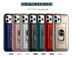 For iPhone 12 11 Pro Max X XS XR 6 7 8 Slim Armor Design Suction New Tough Ring Phone Case Army Grade magnetic Car kickstand case