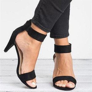 Summer Women's High Heel Sandals Open Toe Summer Shoes With 5CM High Heels Sandals Ankle Strap Woman 2020 Sandalias Mujer1
