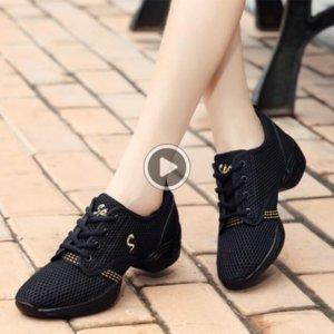 04G0E Akexiya Dimensione 30-44 Sport delle signore delle donne Breath Dance Fitness Scarpe Uomo Danza Sneakers Danza Jazz pratica scarpe dei ragazzi dei bambini Girls 2