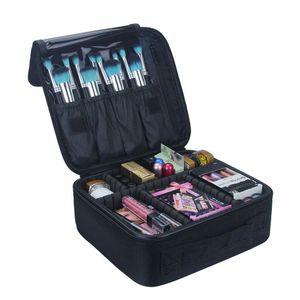 Qehiie alta qualidade maquiagem bolsa profissional maquiagem caso maquiagem organizador bolso mujer caso cosmético grande capacidade de armazenamento lj200917