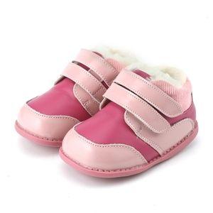 Tipsietoes New Winterkinder Bona-Schuh-Leder Martin Kleinkind Stiefel Kinder-Schnee-Mädchen Fashion Sneakers Chuteira EnfantX1024