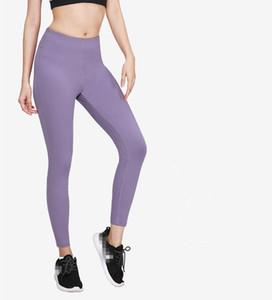 여성용 레깅스 요가 바지 높은 허리 레깅스가 달리기 스타킹 운동복 스포츠 체육관 피트니스 바지 빠른 건조 스포츠 9 색 S-XL
