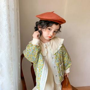 MILANCEl зима новой одежда малышей цветочных девушек куртка пальто Корейского стиль для девочек одиночных детей груди верхней одежды 201110