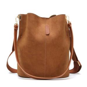 Youse Vintage Nubuck Bucket PU кожаное плечо мешок мешок сумка большой емкости леди Crossbody 2021 роскошный дизайнер женская сумка C1223