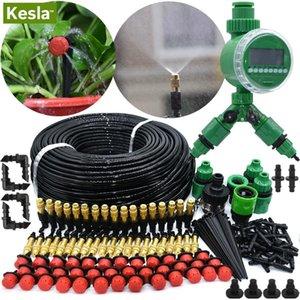 Kesla 5m-50m Automatic Garden System Kits Timer Controlador DIY Garden Micro Irrigation Irrigation System 201211