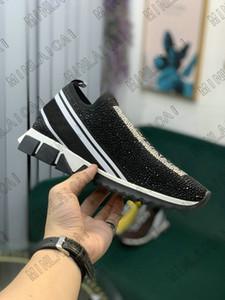 Diamond Sorrento Slip-kne stres stret restry Щелевые Носки Тренажеры Двухтона Резиновые Микро подошвы Кристалл Мужская Повседневная Обувь