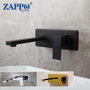 욕실 싱크 수도꼭지 Zappo 블랙 크롬 욕조 수도꼭지 벽 마운트 폭포 차가운 물 믹서 탭 목욕 샤워 Robinet Baignoire