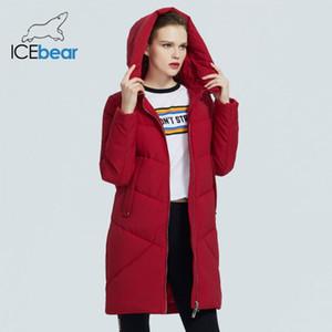 İcebear Yeni Kış Kadın Ceket Kadın Giysileri Kapşonlu Kadın Parkas Marka giyim GWD19068I 201022