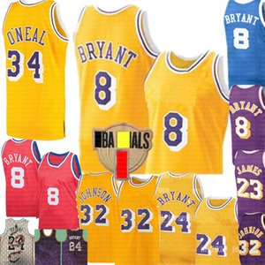NCAA 8 Retro BRYANT Earvin 32 Johnson Jersey 23 James Shaquille 34 O'Neal Larry 33 Bird Jerseys university Basketball Jerseys