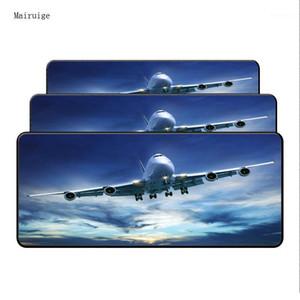 Gökyüzünde Mairuige Uçak 900 * 400mm Büyük Hayvan Mouse Pad Grande Klavye Mat Efsaneler Ligi için CS Oyun Oyuncular için Git