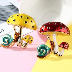 Creative All-Match Brooch Pastoral Fresh Cute Atmospheric Personality Brooches Mushroom Snail Brooch Clothes Decorations1